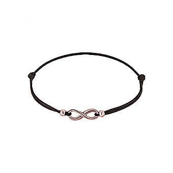 Elli vrouwen armband in zilver 925 met oneindige roze teken