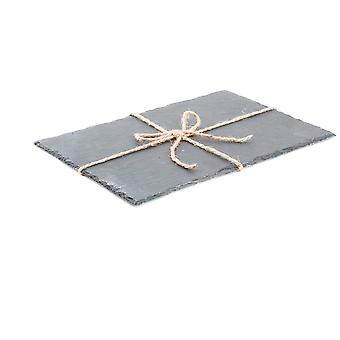 Wellindal Asas 35X25 Slate Tray Rope (Decoration , Boxes and baskets , Boxes)