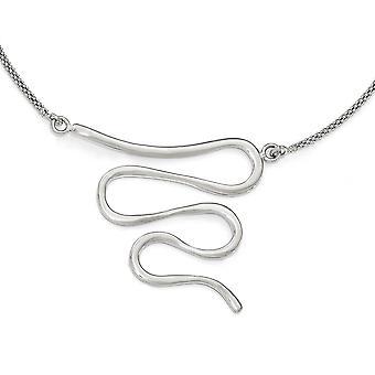 925 Sterling Argent Poli Avec 1.5inch Ext. Necklace 19.5 Pouces Bijoux Cadeaux pour les femmes