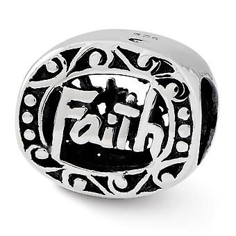 925 Sterling Silver finition Reflections Faith Bead Charm Pendant Necklace Jewelry Gifts for Women