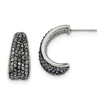 Stainless Steel Polished Crystal Post Earrings Jewelry Gifts for Women