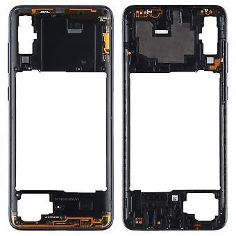Takakotelo runko Samsung Galaxy A70 musta kehys levy varaosa korjaus