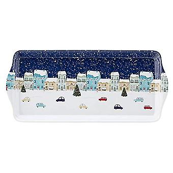 Foxwood Home Winter Scene Rectangular Tray