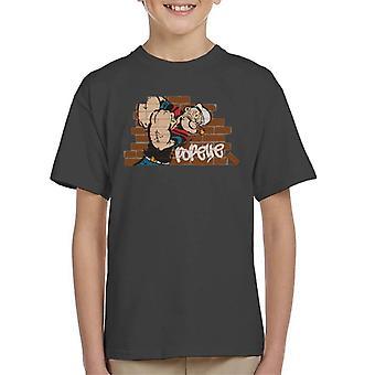 Popeye Graffiti Wall Kid's T-Shirt