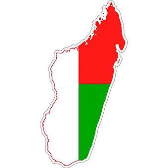 Pegatina Adhesif Coche Vinilo Bandera Mapa Madagascar