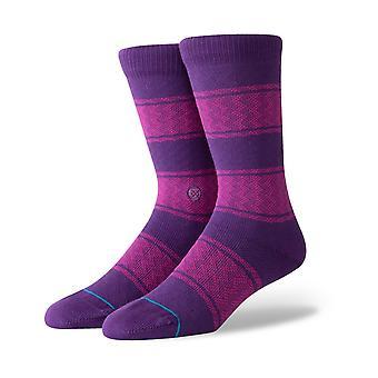 Stance Serape Crew Socks in Purple