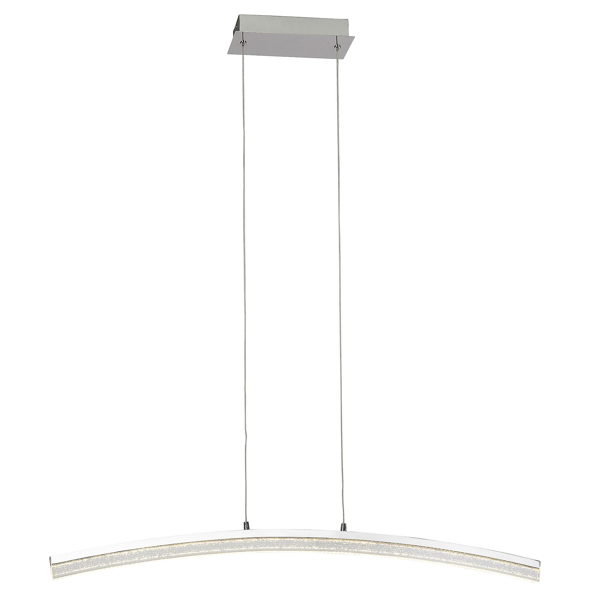 BRILLIANT lamp SPARKLING LED pendant lamp chrome Via wall switch dimmable in 3 stages I adjustable in height / cable can be shortened
