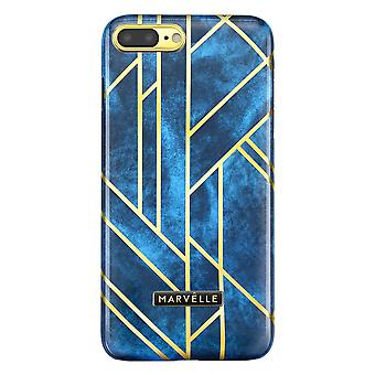 Marvêlle iPhone 7/8 Plus Magnetic Case Golden Velvet Blue