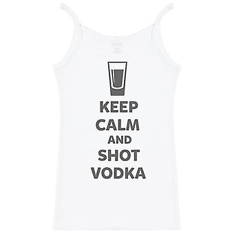 Keep Calm And Shot Vodka - Womens Strap Top