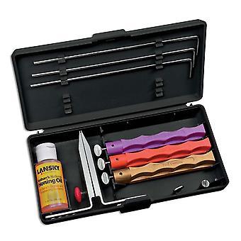 Lansky 3-Stone Diamond Knife Sharpening System + Brush, Guide Rods, Clamp #LK3DM