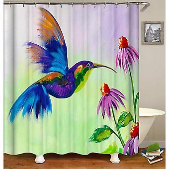 Colorful Honeybird Art Shower Curtain