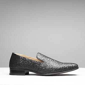 Mister Carlo Jackson Mens Sparkling Loafers Black