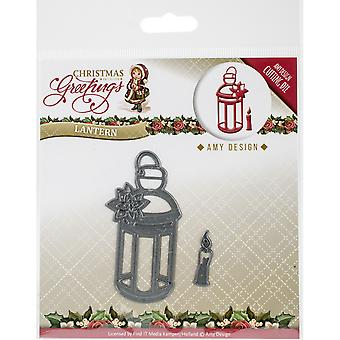 Find It Trading Amy Design Die-Lantern, Christmas Greetings