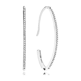 Pandora Silver Women's Circle Earrings - 297691CZ