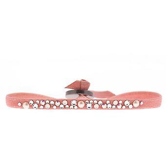 Bracciale intercambiabile A36658 - tessuto rosa cristalli Swarovski donna Bracciale