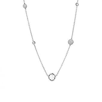 Collier Ti Sento 3907ZI - Collier Argent Oxyde Pierre Blanche