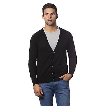Cardigan Black Rich John Richmond man