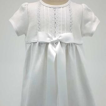 Dopklänning Grace Of Sweden, Kort ärm Med Vit Doprosett,      Tr.v.k