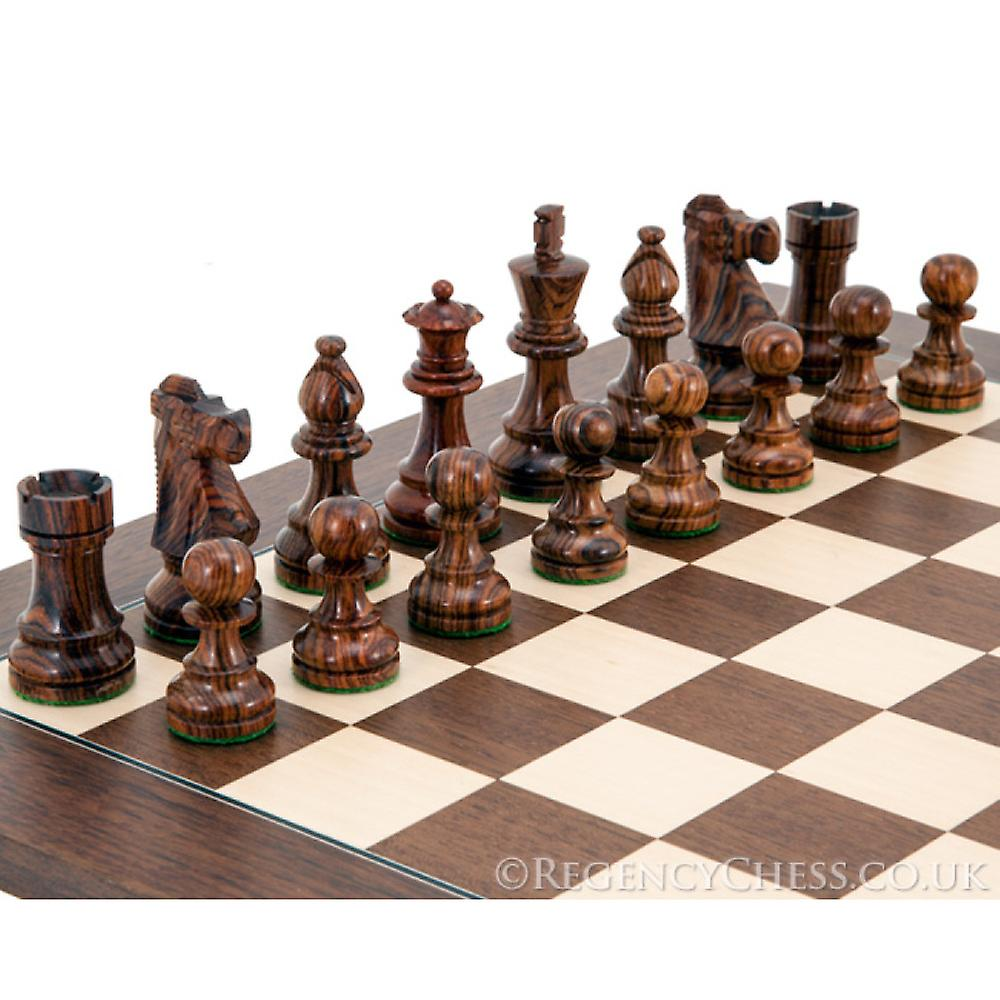 French Knight Montgoy Rosewood Chess Set