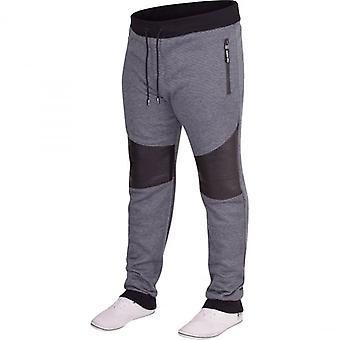 D Rock Mens D Rock Slim Fit Gym Jogger Fleece Tracksuit Jog Pants Cuffed Bottoms