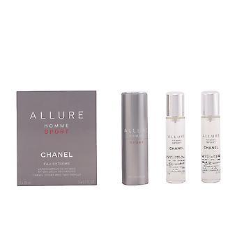 Chanel Allure Homme Sport Eau Extrême Spray hervulbare 3 X 20 Ml voor mannen