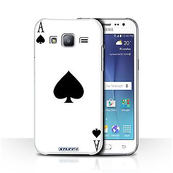 STUFF4 Case/Cover voor de Samsung Galaxy J2/J200/Ace of Spades/speelkaarten