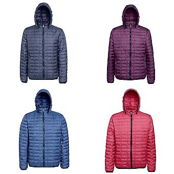 2786 Mens Honeycomb Padded Hooded Jacket
