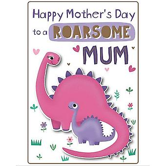 Eurowrap Roarsome Mum Mothers Day Greetings Card