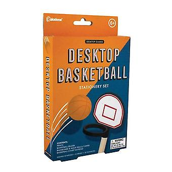 Desktop Basketball Stationery Set Game Table Top Mini Set Con Bola y Aro