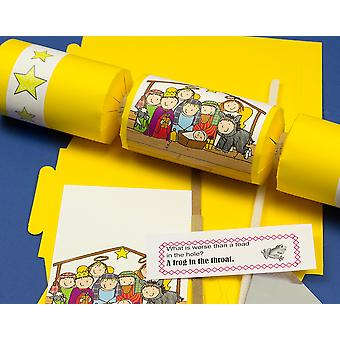 Single Fun Nativity Make & Fill Your Own DIY Recyclable Christmas Cracker Kit