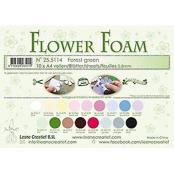 LeCrea - 10 Flower Foam sheets A4 0,8mm Forest green 25.5114