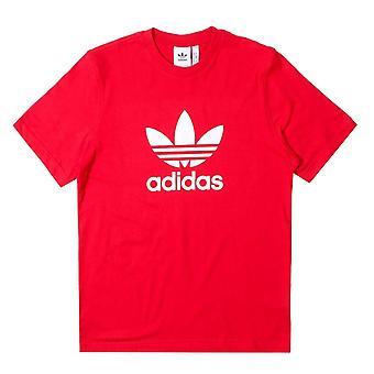 Adidas Trefoil Red Short Sleeve T-Shirt