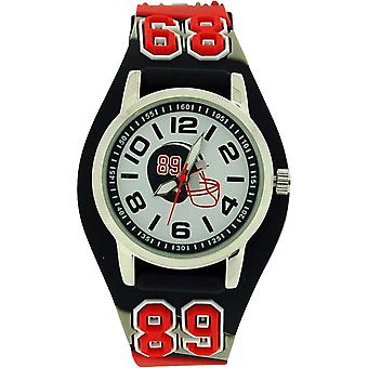 Ravel Boys - Kids American 3D Football Watch With Black Grey & Red Strap R1521.3