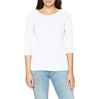 Hanes Women's Stretch Cotton Raglan Sleeve Tee, White, Large, White, Size Large