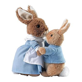 Beatrix Potter Mrs Rabbit & Peter Soft Toys Set Of 2