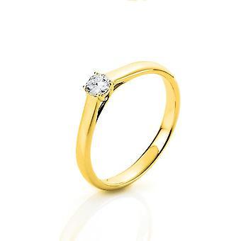 Bague diamant - 18K 750/- Or Jaune - 0,2 ct. - 1A441G853 - Largeur de l'anneau: 53