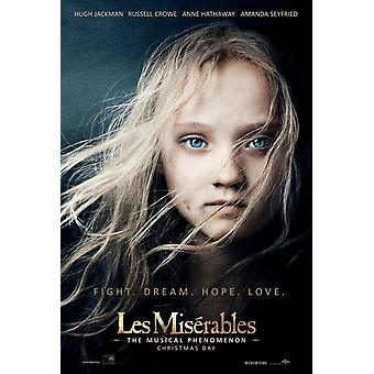 LES MISERABLES Affiche double face ADVANCE (UV Coated/High Gloss) (2012) ORIGINAL CINEMA POSTER