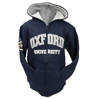 Ou129 licensed kids zipped oxford university™ hooded sweatshirt navy