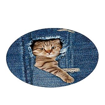 Cartoon carpet round, home decoration, soft non-slip printed carpet, used in living room bedroom
