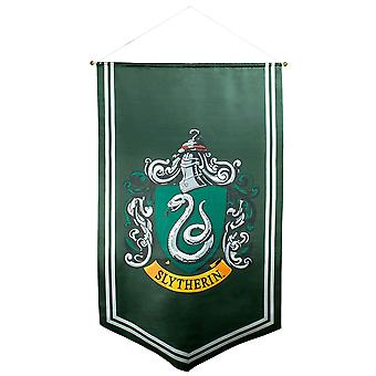 Bannière en satin Harry Potter Slytherin