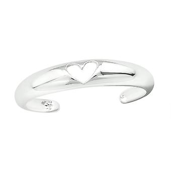 Heart - 925 Sterling Silver Toe Rings - W20687x