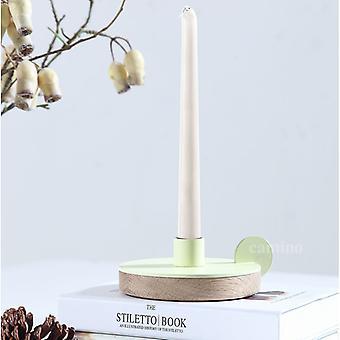 13& x 4.9&x 13& Valkoinen teräs Puu kynttilänjalka