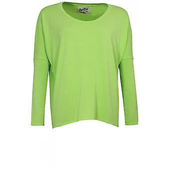 A Postcard from Brighton Lime Green Oversized Jersey Top