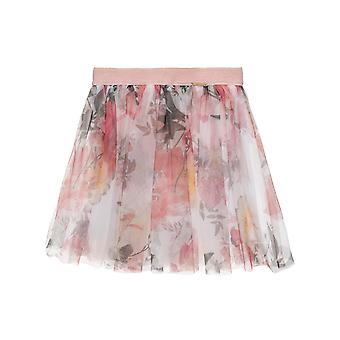 Alouette Girls' Floral Skirt With Tulle