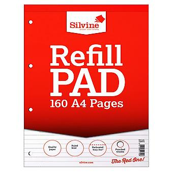 Silvine A4 160 Page Refill Pad (Pack Of 6)