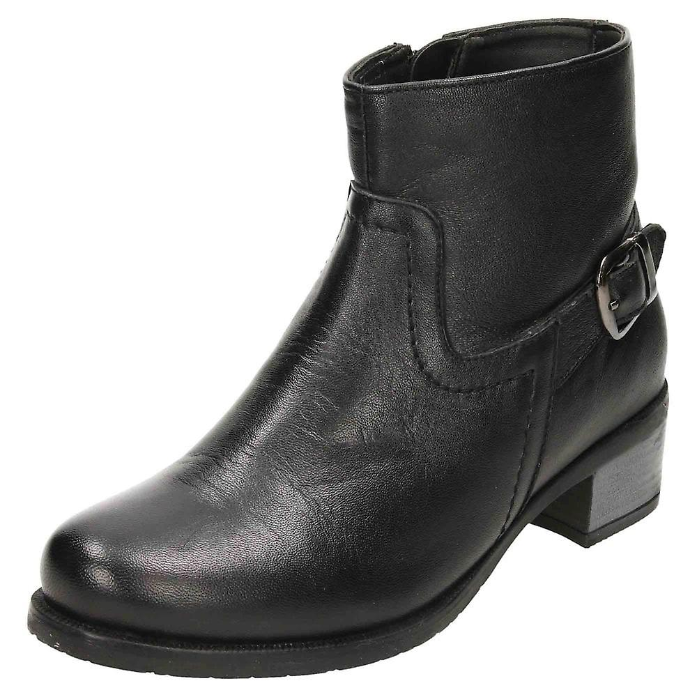 Comfort Plus Leather Ankle Boots Wide E Fitting Low Heel psoKp