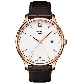 Tissot T063.610.36.037.00 Tradition Rose Gold Pvd Men's Watch