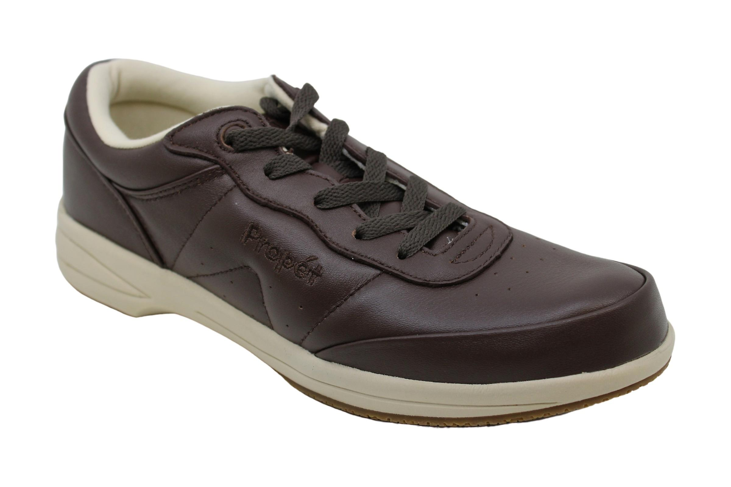 Propét Womens Washable Walker Leather Low Top Lace Up Fashion Sneakers vQ4Ld