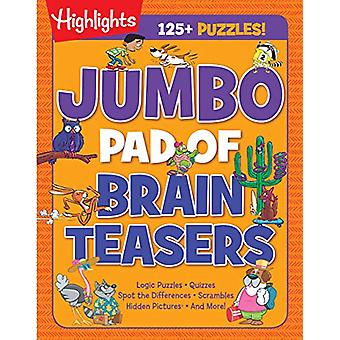 Jumbo Pad of Brain Teasers by Highlights - 9781684379194 Book