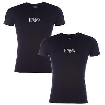 Męska koszulka Armani 2 Pack w kolorze czarnym